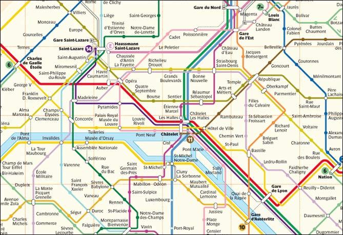 Часть схемы метро.